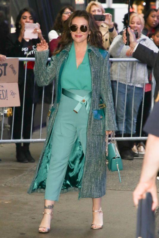ALYSSA MILANO Leaves Good Morning America in New York 10/15/2018