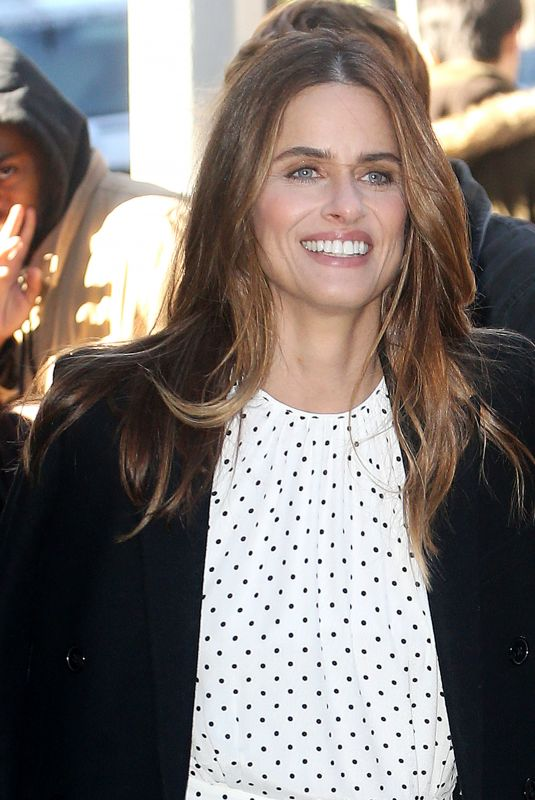 AMANDA PEET at Build Series in New York 10/30/2018