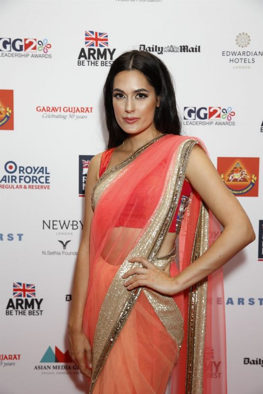 AMRIT MAGHERA at GG2 Leadership Awards in London 10/24/2018