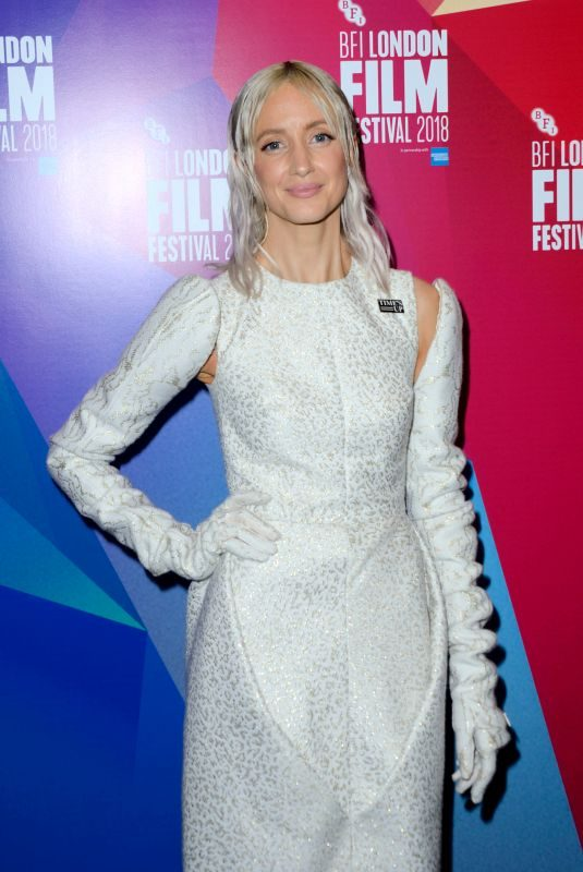 ANDREA RISEBOROUGH at Nancy Premiere at BFI London Film Festival 10/13/2018