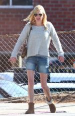 ANNA FARIS in Denim Cut-off Out in Los Angeles 10/09/2018