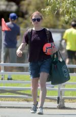 ANNA PAQUIN at a Soccer Game in Los Angeles 09/29/2018