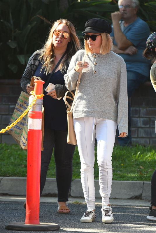 ASHLEY TISDALE and HAYLIE DUFF at a Farmers Market in Los Angeles 09/30/2018