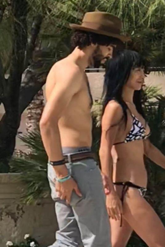BAI LING in Bikini on Holiday in Palm Springs 10/12/2018