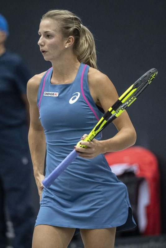 BARBARA HAAS at WTA Upper Austria Ladies Tennins Tournament in Linz 10/10/2018