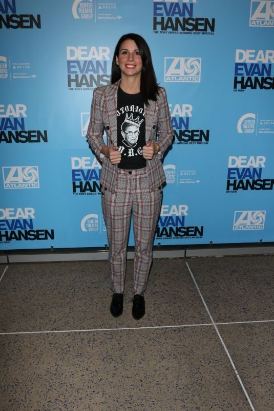 BETH DOVER at Dear Evan Hansen Opening in Los Angeles 10/20/2018