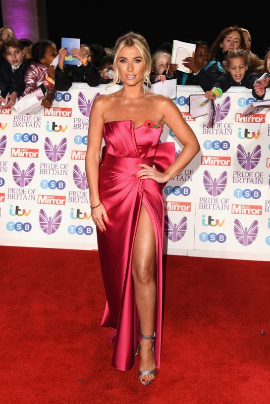 BILLIE FAIERS at Pride of Britain Awards 2018 in London 10/29/2018