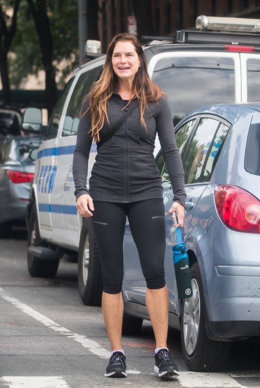 BROOKE SHIELDS Out and About in New York 10/04/2018