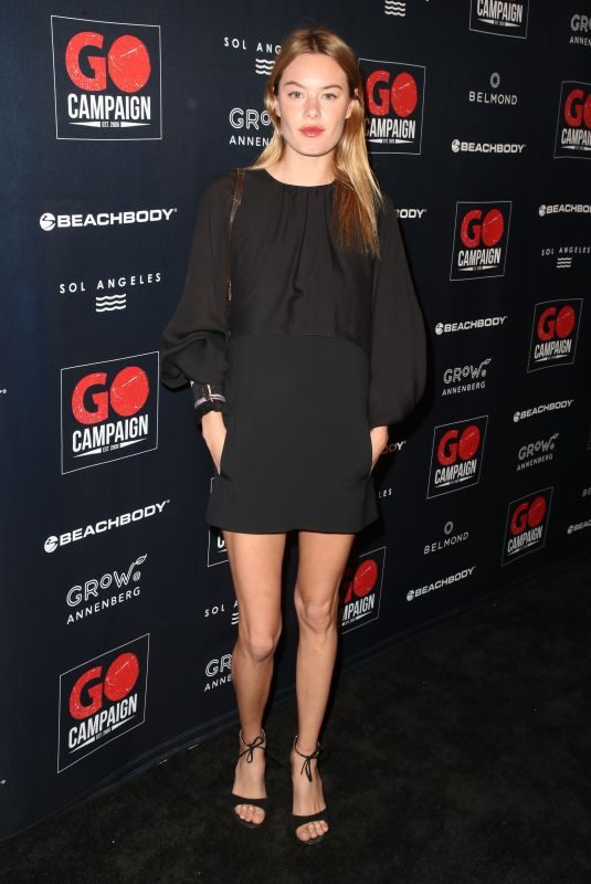 CAMILLE ROWE at GO Campaign Gala in Los Angeles 10/20/2018