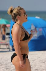 CARMEN VALENTINA in Bikini at a Beach in Miami 10/15/2081