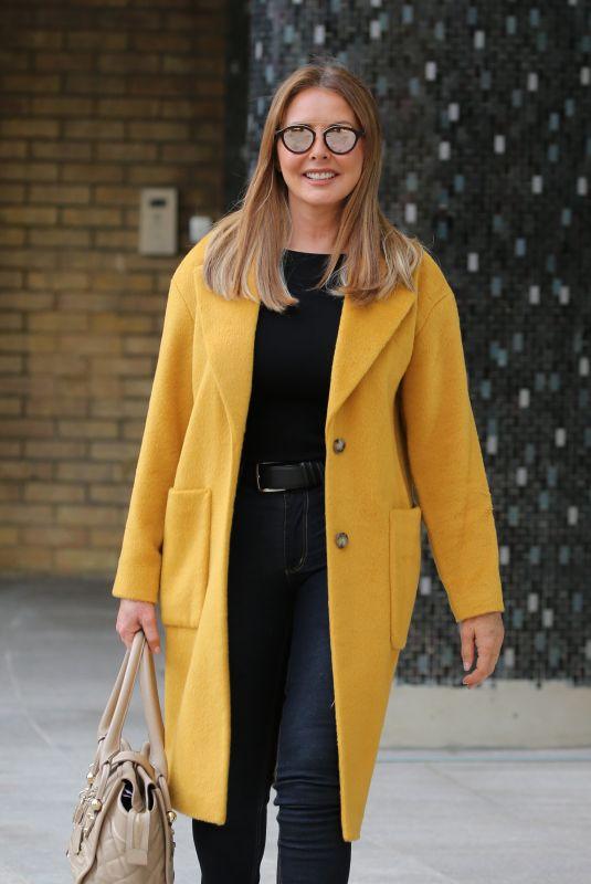 CAROL VORDERMAN Leaves ITV Studios in London 10/23/2018