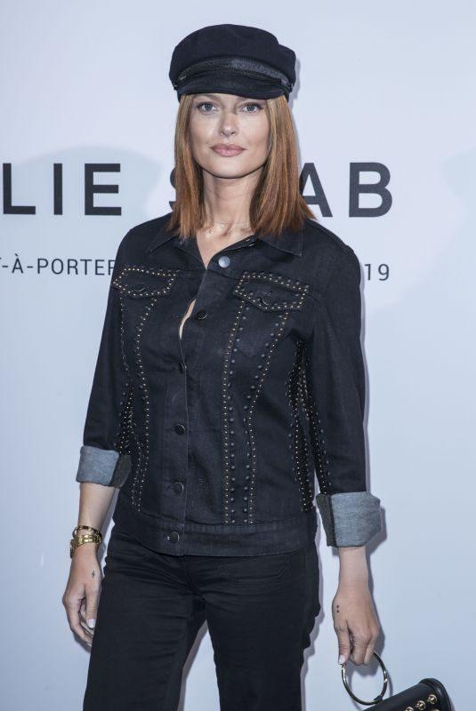 CAROLINE RECEVEUR at Elie Saab Fashion Show in Paris 09/29/2018