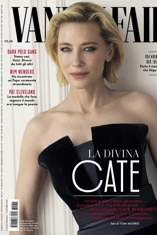 CATE BLANCHETT in Vanity Fair Magazine, Italy September 2018