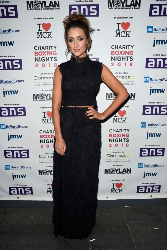 CATHERINE TYLDESLEY at Charity Boxing Nights Event in Manchester 10/06/2018