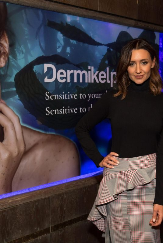 CATHERINE TYLDESLEY at Dermikelp Skincare Brand Presentation in London 10/25/2018