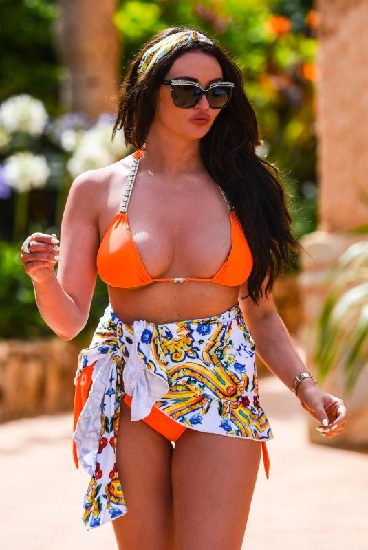 CHARLOTTE DAWSON in Bikii at a Pool in Spain, September 2018