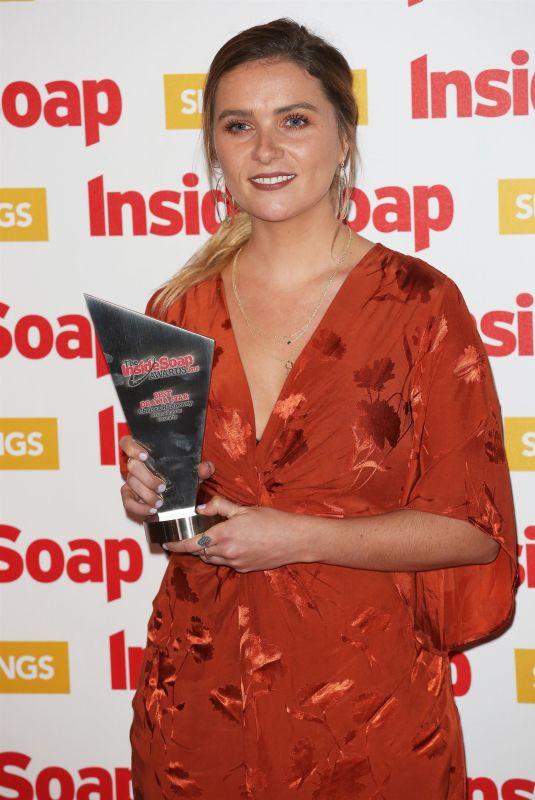 CHELSEA HALPENNY at Inside Soap Awards 2018 in London 10/22/2018