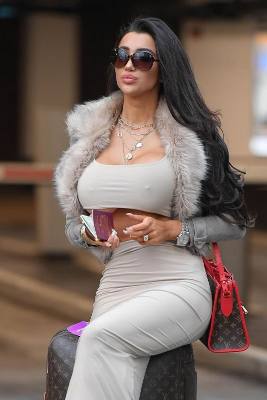 CHLOE KHAN Arrives at John Lennon Airport in Liverpool 10/09/2018