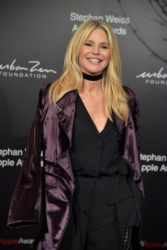 CHRISTIE BRINKLEY at Stephan Weiss Apple Awards in New York 10/24/2018