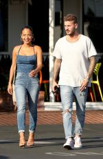 CHRISTINA MILIAN and Matt Pokora at Fred Segal in West Hollywood 10/25/2018