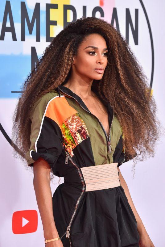 CIARA at American Music Awards in Los Angeles 10/09/2018