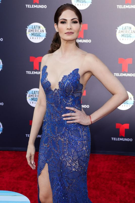 CYNTHIA OLAVARRIA at Latin American Music Awards 2018 in Los Angeles 10/25/2018