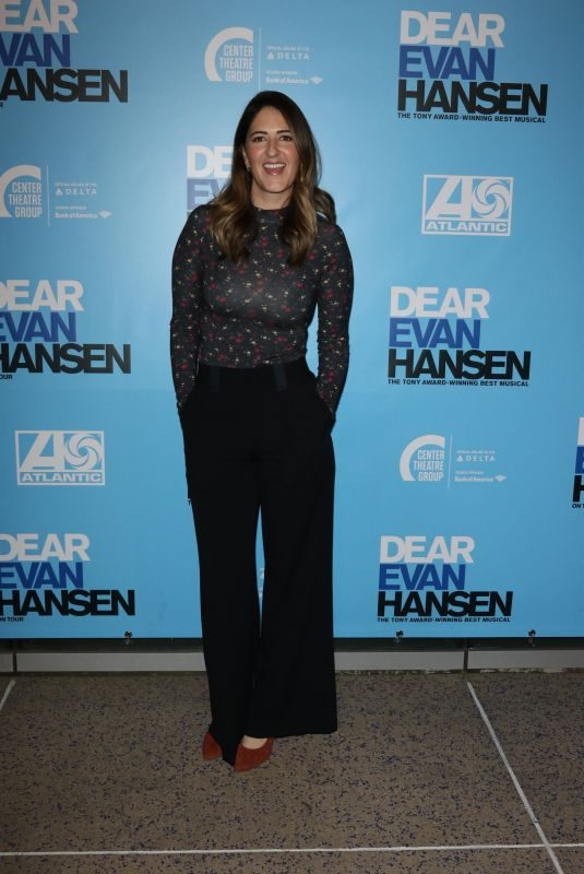 D'ARCY CARDEN at Dear Evan Hansen Opening in Los Angeles 10/20/2018