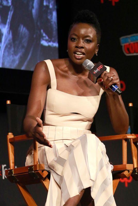 DANAI GURIRA at The Walking Dead Panel at New York Comic-con 10/06/2018