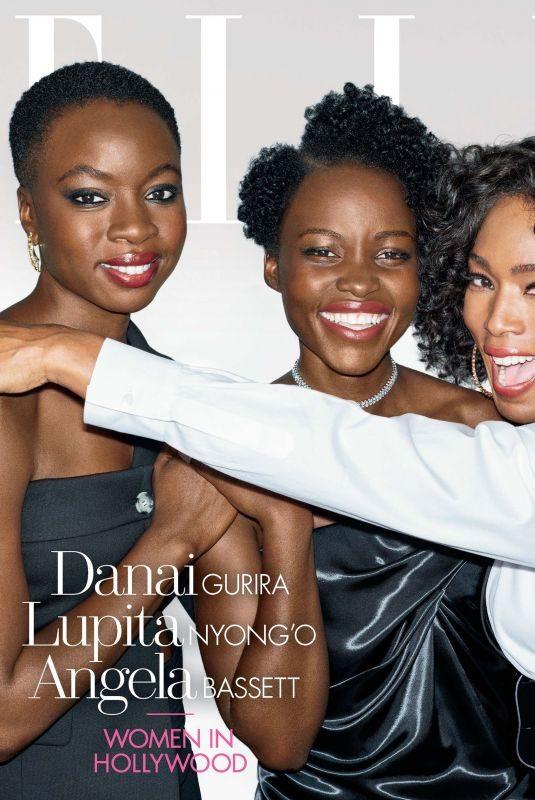 DANAI GURIRA. LUPITA NYONG'O and ANGELA BASSETT in Elle Women in Hollywood Issue, November 2018