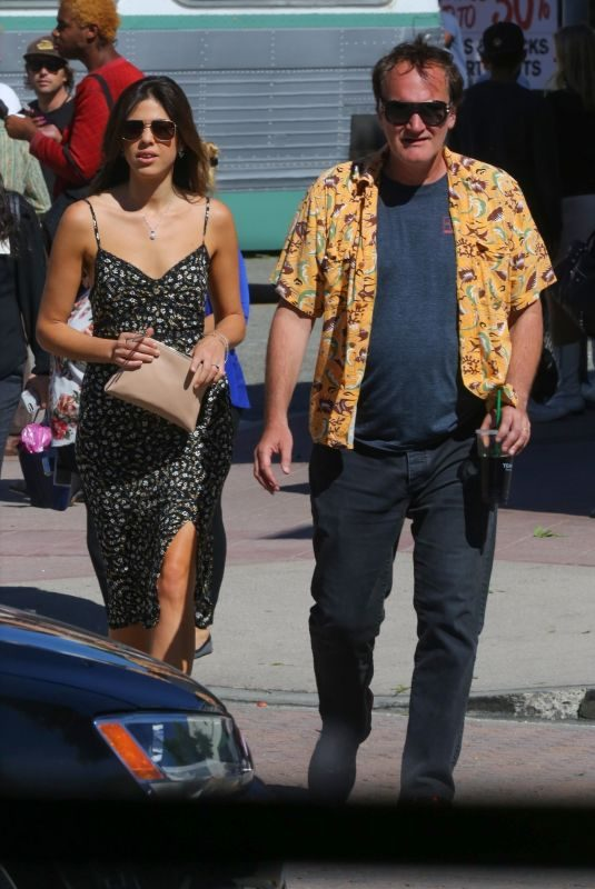 DANIELLA PICK and Quentin Tarantino Out in Los Angeles 10/15/2018