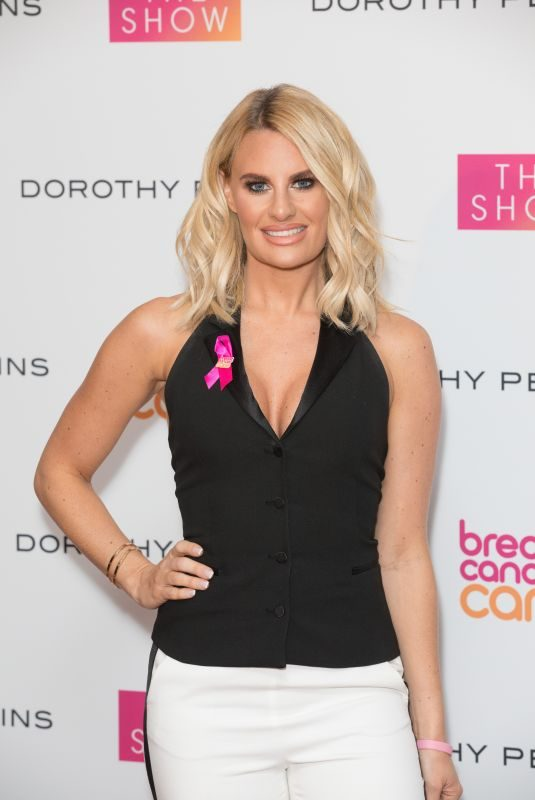 DANIELLE ARMSTRONG at Breast Cancer Care Fashion Show in London 10/04/2018
