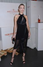 DAPHNE GROENEVELD at Moet & Chandon and Virgil Abloh New Bottle Collaboration Launch in New York 10/16/2018