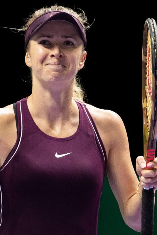 ELINA SVITOLINA at BNP Paribas WTA Finals in Singapore 10/25/2018