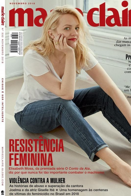 ELISABETH MOSS in Marie Claire magazine, Brasil November 2018