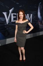 ELIZABETH CARLISLE at Venom Premiere in Los Angeles 10/01/2018