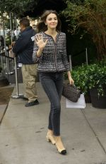 ELLA HUNT Out in New York 10/16/2018