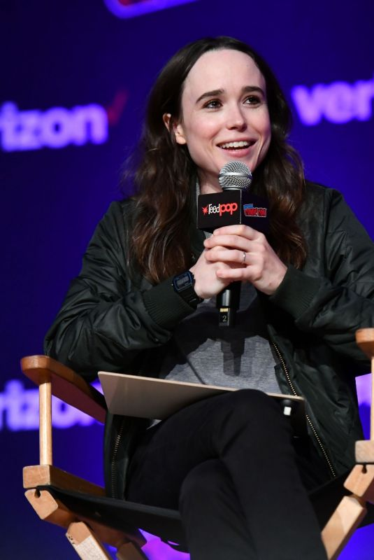 ELLEN PAGE at Netflix & Chills Panel at New York Comic-con 10/05/2018