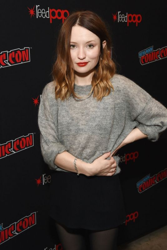 EMILY BROWNING at Starz Brings American Gods to New York Comic-con 10/05/2018