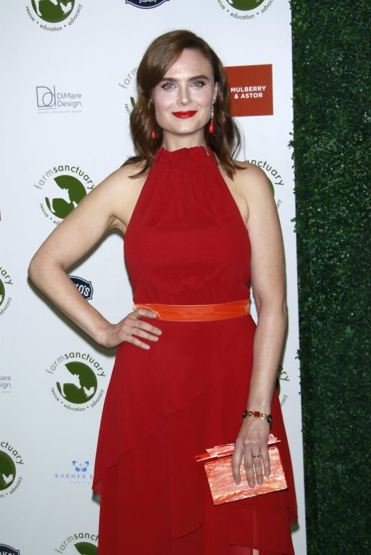 EMILY DESCHANEL at Farm Sanctuary on the Hudson Gala in New York 10/04/2018