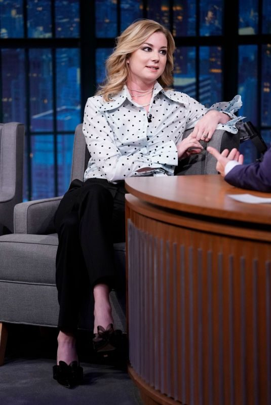 EMILY VANCAMP at Late Night with Seth Meyers in New York 10/24/2018