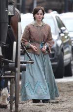 EMMA WATSON on the Set of Little Women in Boston 10/08/2018