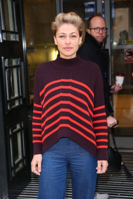 EMMA WILLIS at BBC Studio in London 10/27/2018