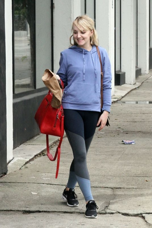 EVANNA LYNCH Arrives at Dance Practice in Los Angeles 10/14/2018