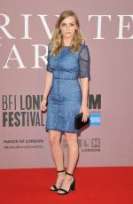 FAYE MARSAY at A Private War Premiere at BFI London Film Festival 10/20/2018