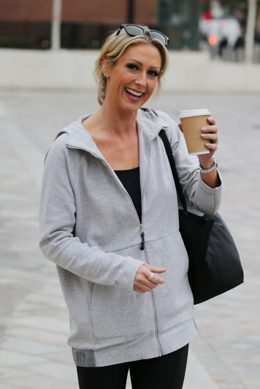 FAYE TOZER Leaves ITV Studios in London 10/04/2018