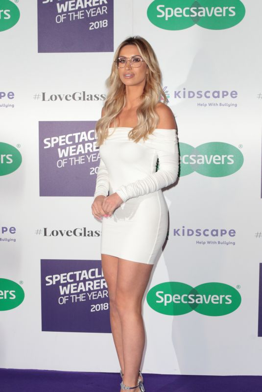 FERNE MCCANN at Specsavers Spectacle Wearer of the Year Party in London 10/24/2018
