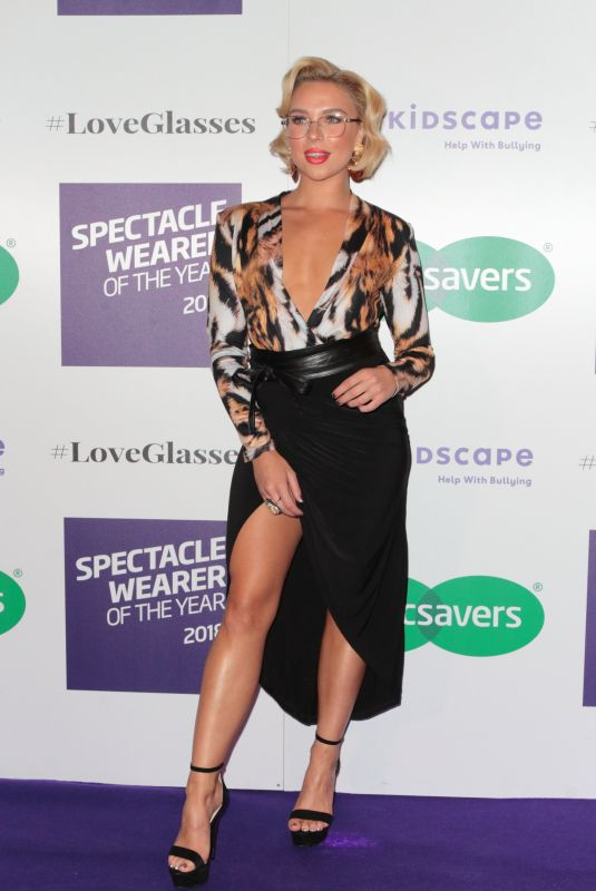 GABBY ALLEN at Specsavers Spectacle Wearer of the Year Party in London 10/24/2018