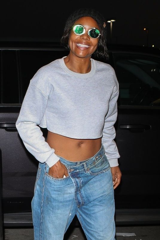 GABRIELLE UNION at Los Angeles International Airport 10/26/2018