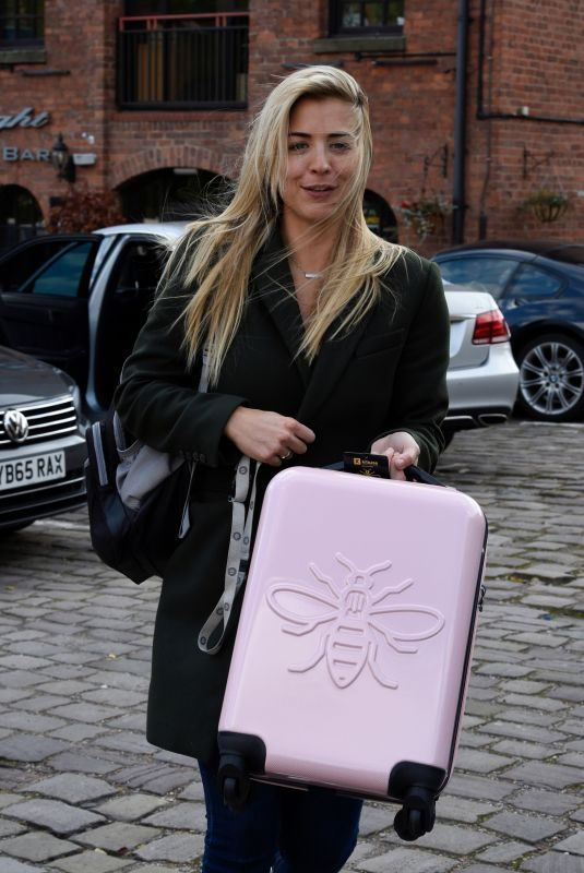 GEMMA ATKINSON Leaves Hits Radio in Manchester 10/11/2018