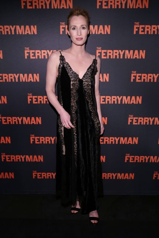 GENEVIEVE O'REILLY at The Ferryman Opening Night at Jacobs Theatre in New York 10/21/2018